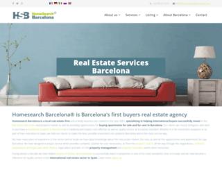 homesearchbarcelona.com screenshot