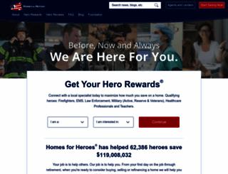 homesforheroes.com screenshot