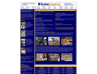 homesources.co.uk screenshot