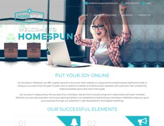 homespunwebsites.com screenshot