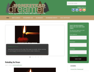 homesteaddreamer.com screenshot