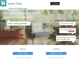 hometeam.azurewebsites.net screenshot