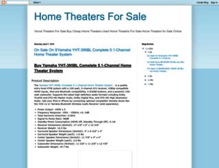 hometheatersforsale.blogspot.com screenshot