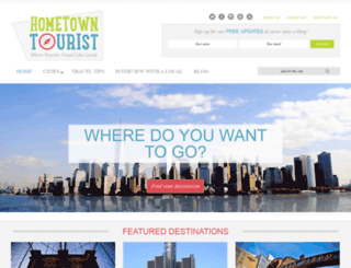 hometown-tourist.com screenshot