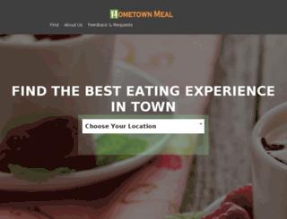 hometownmeal.com screenshot