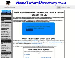 hometutorsdirectory.co.uk screenshot