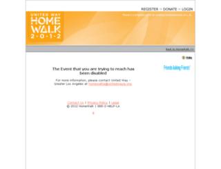 homewalkla.kintera.org screenshot
