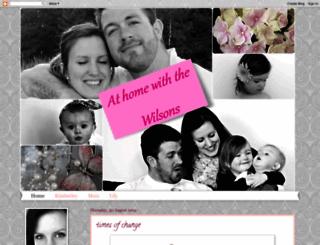 homewiththewilsons.blogspot.com screenshot