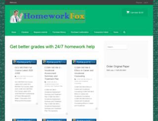 homeworkfox.com screenshot
