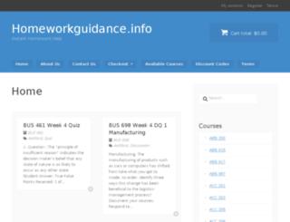 homeworkguidance.info screenshot