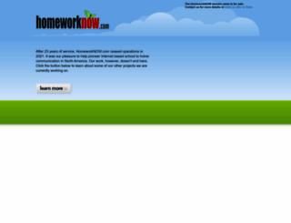 homeworknow.com screenshot
