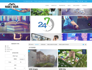 homezindia.com screenshot