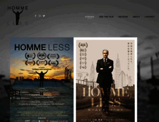 homme-less.com screenshot