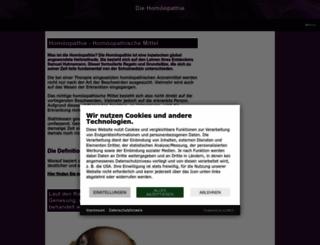 homoeopathie-homoeopathisch.de screenshot