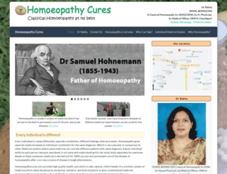 homoeopathycures.com screenshot