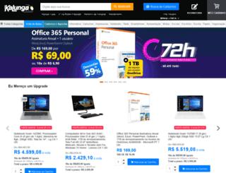 homologacao.kalunga.com.br screenshot