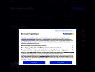honda-legend.autobazar.eu screenshot