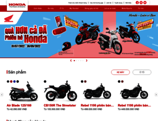 honda.com.vn screenshot