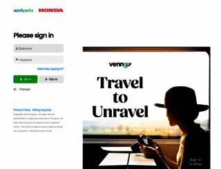 honda.venngo.com screenshot