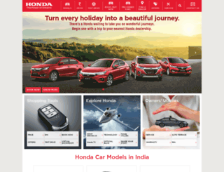hondacarindia.com screenshot