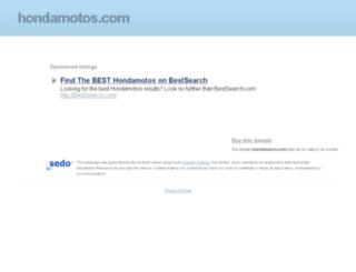 hondamotos.com screenshot