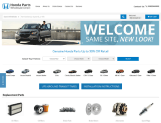 hondapartswholesaledirect.com screenshot