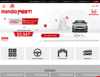 hondasantafe.com.mx screenshot