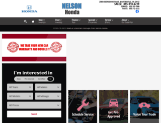 hondasbynelson.com screenshot