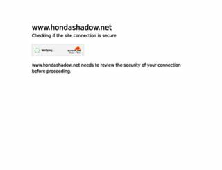 hondashadow.net screenshot
