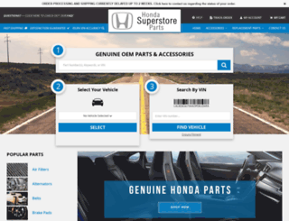hondasuperstoreparts.com screenshot