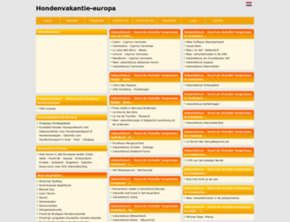 hondenvakantie-europa.beginthier.nl screenshot