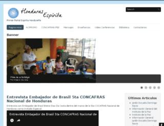 hondurasespirita.org screenshot