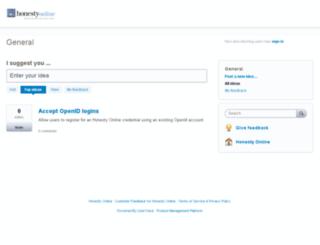 honestyonline.uservoice.com screenshot