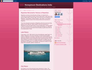 honeymoondestinationsindia.blogspot.com screenshot