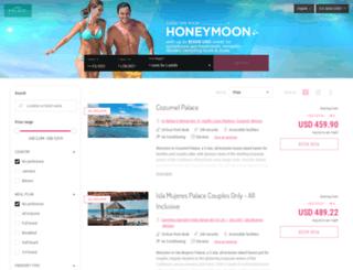 honeymoons.palaceresorts.com screenshot
