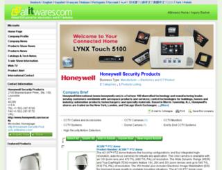 honeywell-security-products.allitwares.com screenshot
