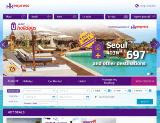 hongkongexpress.com screenshot