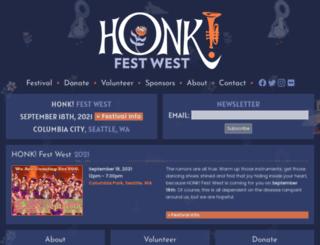 honkfestwest.com screenshot