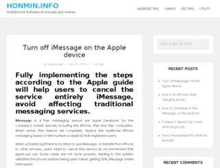 honmin.info screenshot
