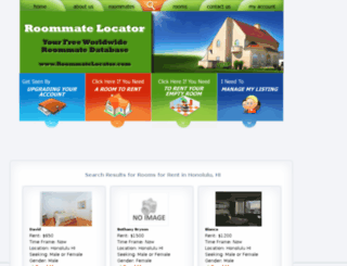 honolulu.roommatelocator.com screenshot