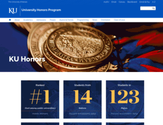 honors.ku.edu screenshot