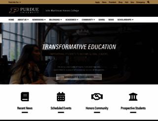 honors.purdue.edu screenshot