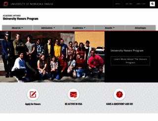 honors.unomaha.edu screenshot