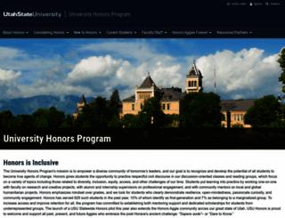 honors.usu.edu screenshot