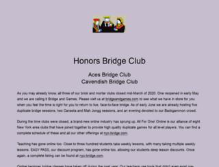 honorsbridgeclub.org screenshot