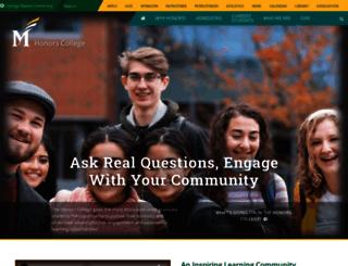 honorscollege.gmu.edu screenshot