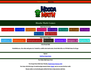 hoodamath.com screenshot