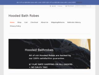 hoodedbathrobes.com screenshot