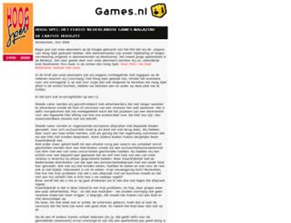 hoogspel.nl screenshot