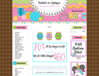 hookedonapplique.com screenshot